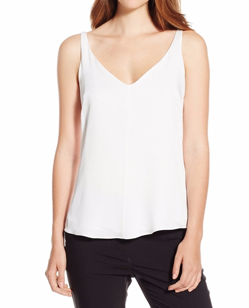 Stretch Silk V-Neck Tank Top by Milly in Mother's Day