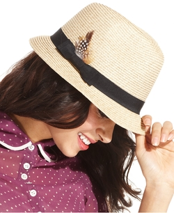 Packable Fedora Hat by Nine West in Blended