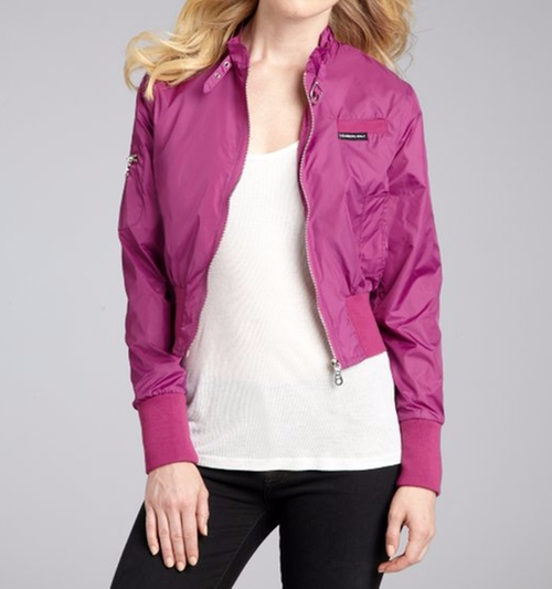 Iris Classic Nylon Bomber Jacket by Members Only in Unbreakable Kimmy Schmidt