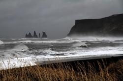 Vík í Mýrdal, Iceland by Mýrdalssandur Beach (Depicted as Planet Lah'mu) in Rogue One: A Star Wars Story