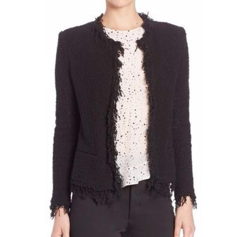 Shavani Fringe-Trimmed Jacket by Iro in The Boss