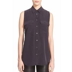 Slim Signature Sleeveless Silk Shirt by Equipment in The Blacklist
