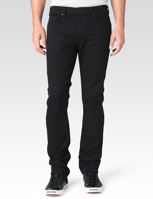 Federal Black Reflect Denim Pants by Paige in Ballers