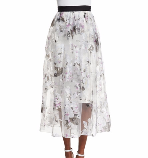 Floral-Print A-line Midi Skirt by Sachin & Babi Noir in Brooklyn