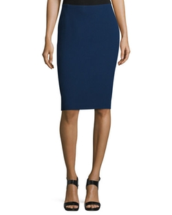 Mid-Rise Wool Pencil Skirt by Lafayette 148 New York in Suits