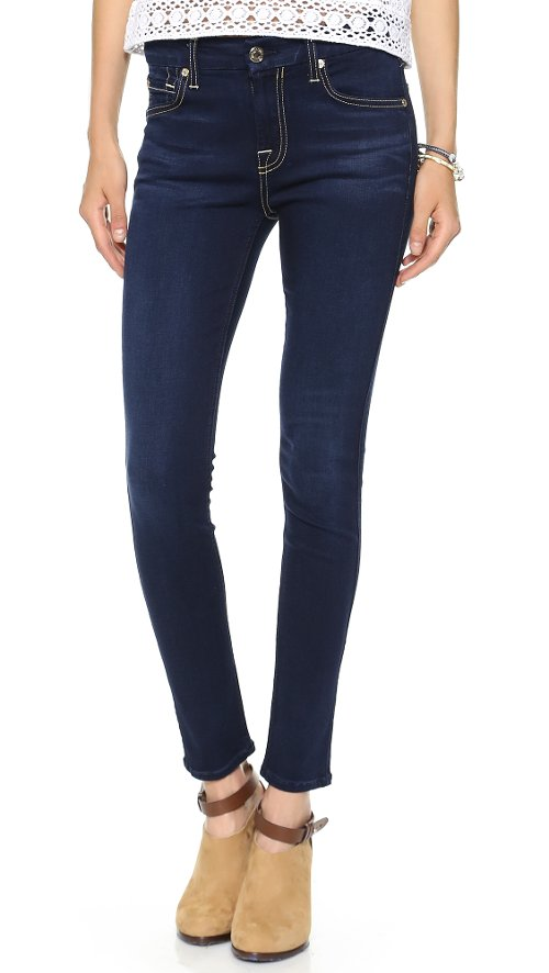 Mid Rise Skinny Jeans by 7 For All Mankind in That Awkward Moment