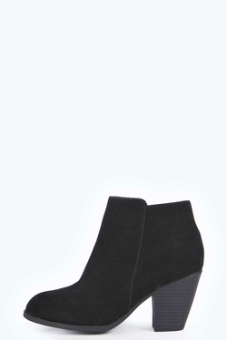 Kali Suedette Pistol Ankle Boot by Boohoo in She's Funny That Way