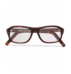 Square-Frame Tortoiseshell Acetate Optical Glasses by Kingsman + Cutler And Gross in Kingsman: The Secret Service