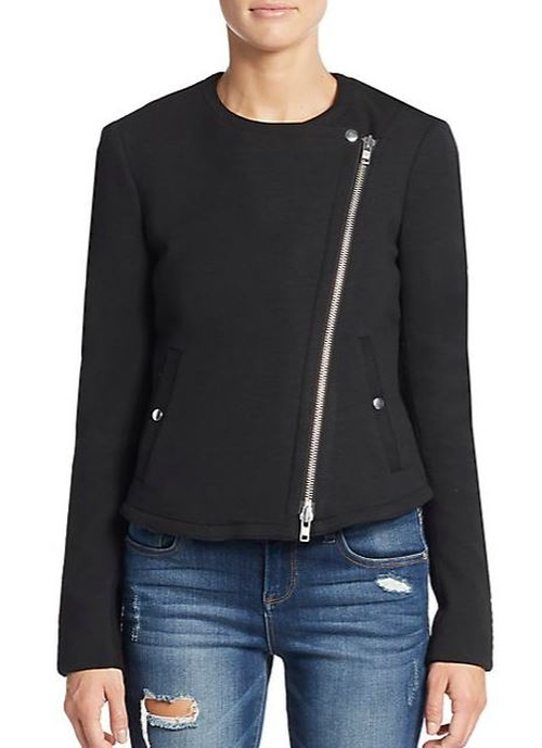 Joean Q Idol Jersey Jacket by Theory  in Keeping Up With The Kardashians - Season 11 Episode 12