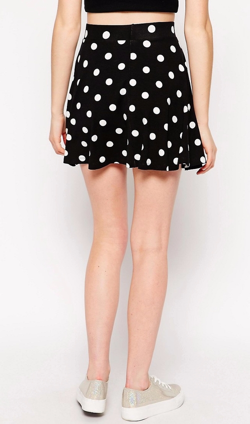 Polka Dot Skater Skirt by Asos Petite in Me Before You