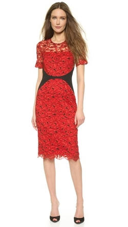Fitted Lace Sheath Dress by Lela Rose in Scandal