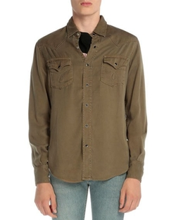 Long-Sleeve Western-Style Shirt by Saint Laurent in Ballers