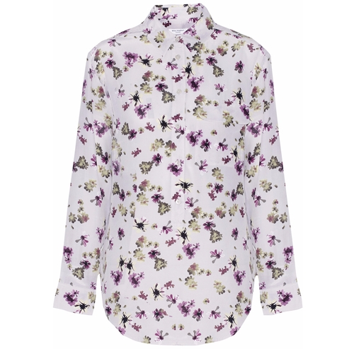 Garrett Floral-Print Washed-Silk Blouse by Equipment in Casual - Season 2 Preview