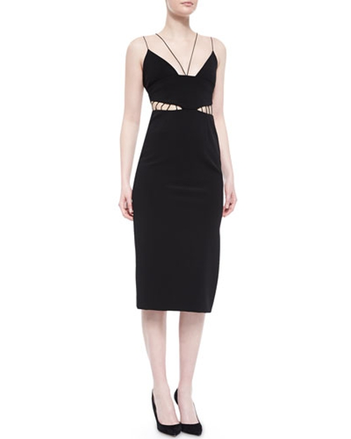 Cage-Front Power Viscose Sheath Dress by Cushnie Et Ochs in Sex and the City 2