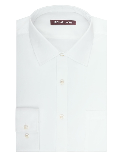 Regular Fit Dress Shirt by Michael Kors in Black Mass