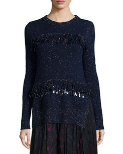 Sequined Fringe Shimmer Sweater by Thakoon in Pretty Little Liars