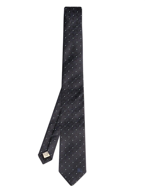 Rohan Floral And Pin-Dot Silk Tie by Burberry London in Legend