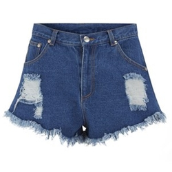 Go Outside Denim Shorts by The Fifth in Chi-Raq