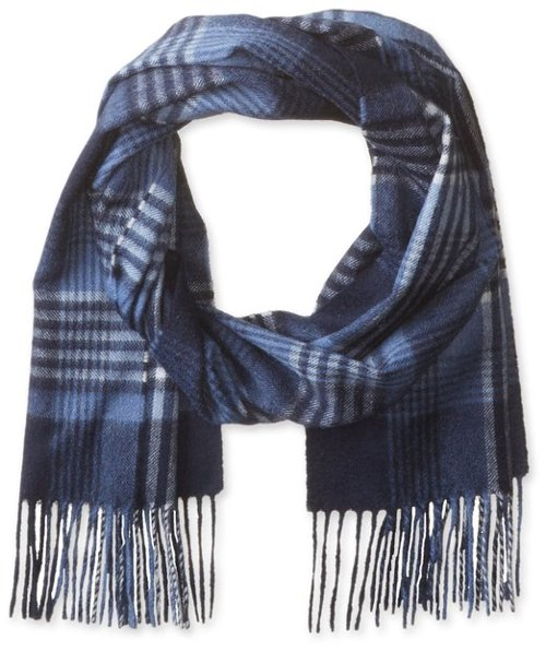 Men's Exploded Plaid Scarf by Phoenix Cashmere in The Secret Life of Walter Mitty