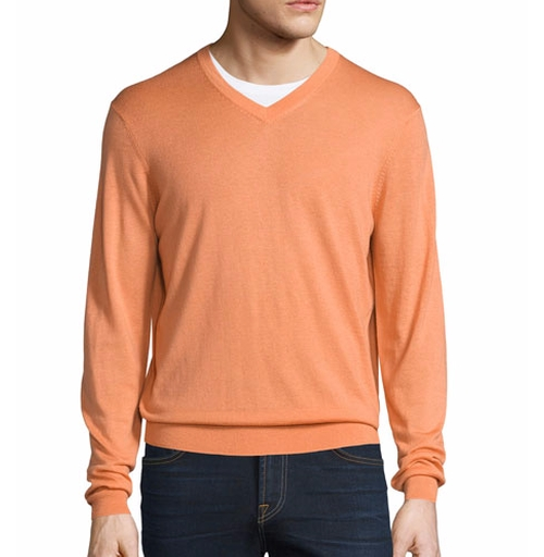 Cashmere-Silk V-Neck Sweater by Neiman Marcus in The Wolf of Wall Street