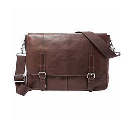 'Graham' Leather Messenger Bag by Fossil in The Commuter