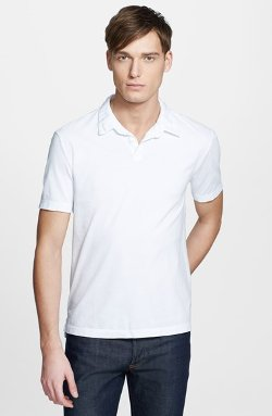 Sueded Jersey Shirt by James Perse in Black or White