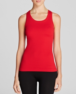 Ribbed Racerback Tank Top by Spanx in The World is Not Enough