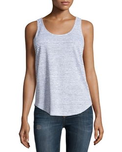 Canyon Striped Draped-Back Tank Top by Rag & Bone/Jean in Suits