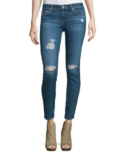 The Legging Distressed Ankle Jeans by AG in Animal Kingdom