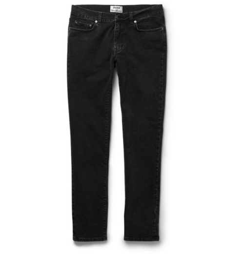 Thin Slim-Fit Denim Jeans by Acne Studios in Scream Queens - Season 1 Episode 3
