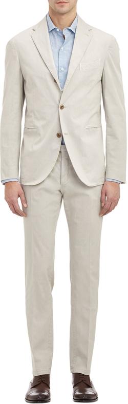 Twill Dover Three-Button Suit by Boglioli in Pretty Little Liars