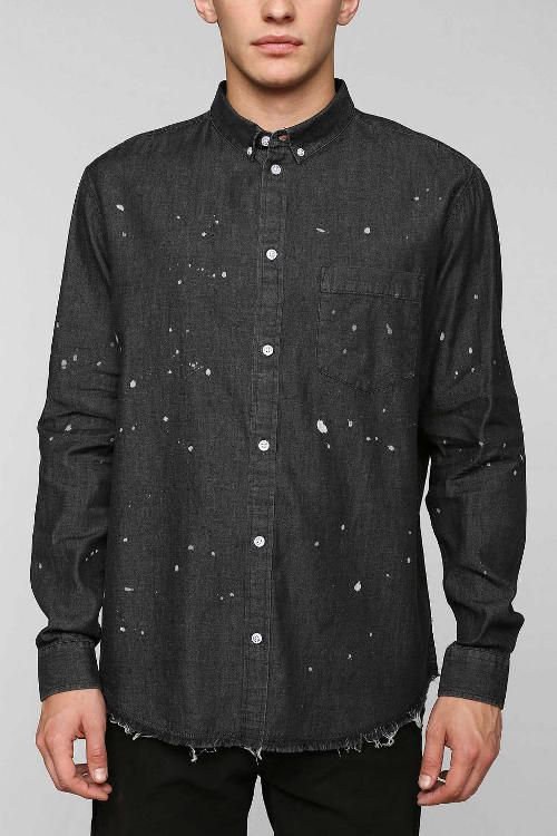 Cheap Monday Frank Denim Button-Down Shirt by Urban Outfitters in Pain & Gain