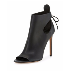 Gabrielle Leather Cutout Booties by Vince in Mistresses