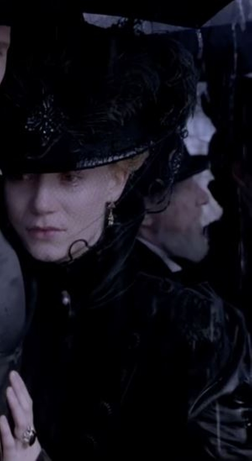 Custom Made Victorian Mourning Satin Dress by Kate Hawley (Costume Designer) in Crimson Peak