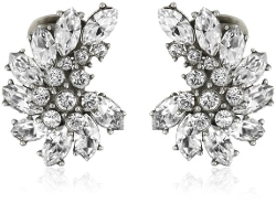 Swarovski Crystal Cluster Clip-On Earrings by Ben-Amun Jewelry in The Second Best Exotic Marigold Hotel