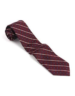 Classic Fit Silk Checked Tie by Black Brown 1826 in Neighbors