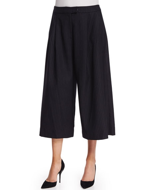Pinstripe Culotte Pants by Nicholas in Pretty Little Liars - Season 6 Episode 19