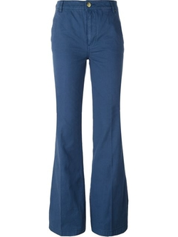 Flared Trousers by Tory Burch in Vinyl