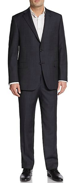 Regular-Fit Pinstripe Worsted Wool Suit by Hickey Freeman in Now You See Me 2