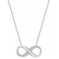 Crystal Pave Infinity Pendant Necklace by Swarovski in The Fate of the Furious