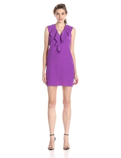 Women's Cassey Ruffled Shift Dress by Amanda Uprichard in Confessions of a Shopaholic