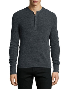 Long Sleeve Henley Shirt by Rag & Bone in Nashville