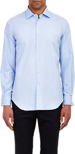 End-On-End Dress Shirt by Barneys New York in Elf