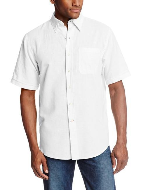 Men's Short Sleeve Linen Cotton Button-Down Woven Shirt by Izod in Lee Daniels' The Butler