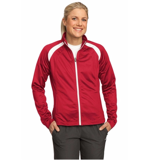 Tricot Track Jacket by Sport-Tek in Lady Dynamite -  Preview