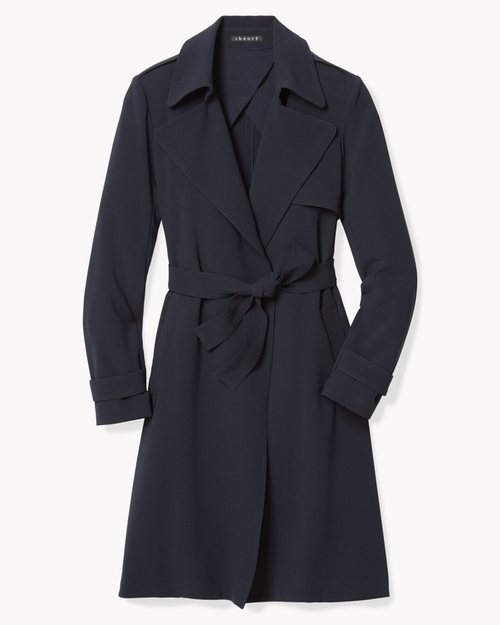 Soft Crepe Trench Coat by Theory in How To Get Away With Murder - Season 2 Episode 10