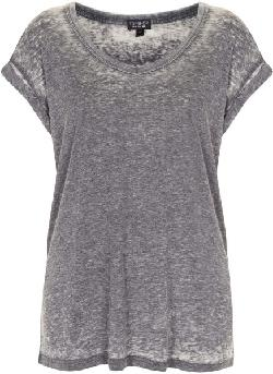 Black V Neck Burnout Tee by TOPSHOP in Vampire Academy