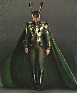 Custom Made 'Loki' Armor Costume by Alexandra Byrne (Costume Designer) in Thor