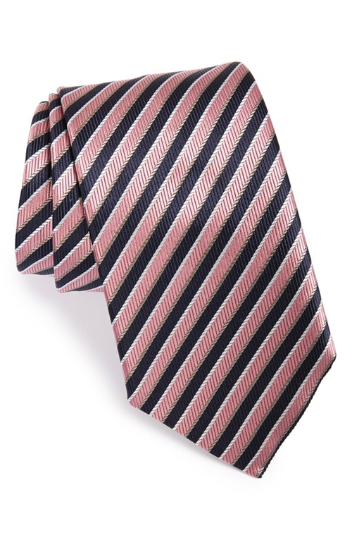 Stripe Silk Tie by Ermenegildo Zegna in The Flash - Season 2 Episode 8