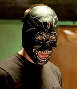 Custom Made Black Día de Muertos Mask by Cindy Evans (Costume Designer) in Savages